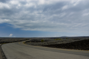 ハワイ州 ハワイ島 ハワイ火山国立公園のチェーンオブクレーターズロードの写真素材 [FYI04528535]