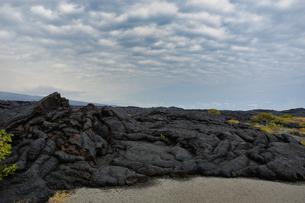 ハワイ州 ハワイ島 ハワイ火山国立公園のチェーンオブクレーターズロードの写真素材 [FYI04528536]