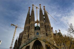スペイン バルセロナ サグラダファミリアの写真素材 [FYI04528640]