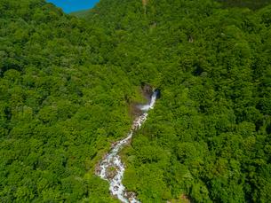 新緑の苗名滝 日本の滝百選 5月の写真素材 [FYI04528711]