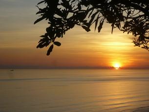 インドネシア、バリ島、ウルワツの夕日の写真素材 [FYI04528971]