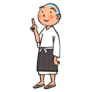 お寺の小僧さんのイラスト素材 [FYI04529213]
