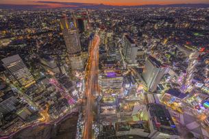 東京夜景マジックアワーの写真素材 [FYI04529235]