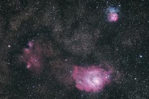 いて座の星雲の写真素材 [FYI04530147]