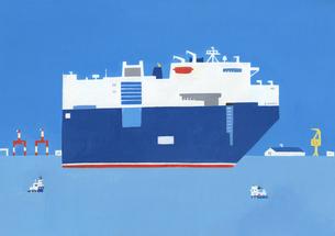 タンカー船のイラスト素材 [FYI04530991]