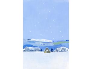 雪の小屋のイラスト素材 [FYI04530992]