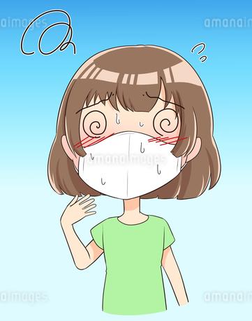 マスク熱中症のイラスト素材 [FYI04531397]