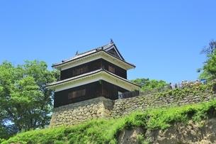 新緑の上田城 西櫓の写真素材 [FYI04532516]