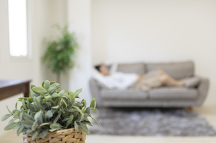 苦しそうな妊婦さんのシルエットの写真素材 [FYI04532900]