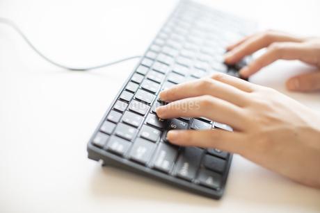 キーボードを操作する手元のイメージカットの写真素材 [FYI04532925]
