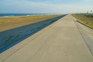 荒浜海岸の風景(宮城県仙台市)の写真素材 [FYI04533908]