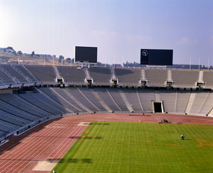 スペイン バルセロナ オリンピックスタジアムの写真素材 [FYI04534211]