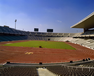 スペイン バルセロナ オリンピックスタジアムの写真素材 [FYI04534212]