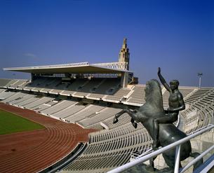 スペイン バルセロナ オリンピックスタジアムの写真素材 [FYI04534215]