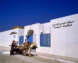 モロッコ アシラフの白い建物の写真素材 [FYI04534271]