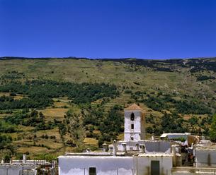 モロッコ ショーエンの白壁の家の写真素材 [FYI04534289]