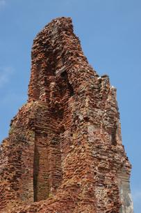 ワット・プラ・マハータート アユタヤにある遺跡の写真素材 [FYI04534421]