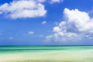 宮古島・砂山ビーチの美しいサンゴ礁の海の写真素材 [FYI04534456]