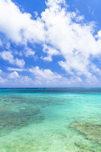宮古島の美しいサンゴ礁の海の写真素材 [FYI04534507]