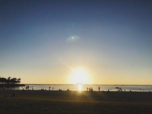 ハワイのサンセットの写真素材 [FYI04534729]