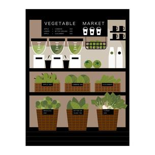緑色の野菜のジューススタンド イラストのイラスト素材 [FYI04535738]