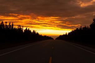 アラスカの日没の写真素材 [FYI04536104]