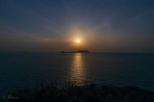 毘沙ノ鼻の夕暮れの写真素材 [FYI04536125]