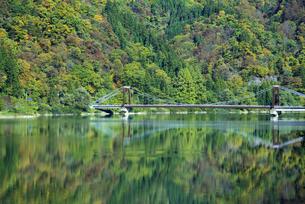 只見川と緑の映り込みの写真素材 [FYI04536355]