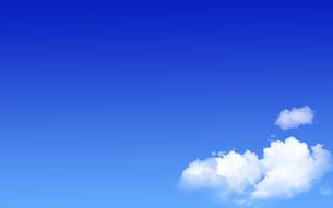 青空と白い雲の写真素材 [FYI04536508]