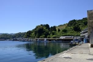 青空の伊根浦漁港の写真素材 [FYI04536544]
