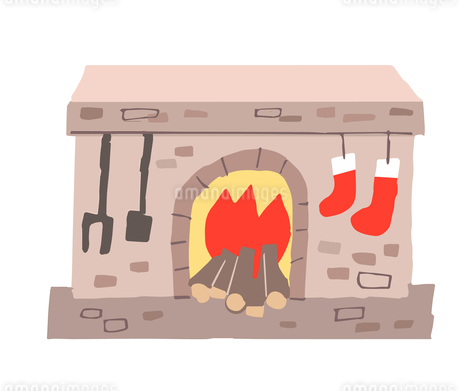 レンガの暖炉のイラスト素材 [FYI04536664]