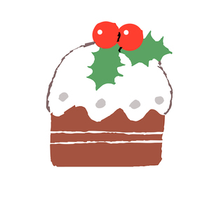 小さなクリスマスケーキ のイラスト素材 [FYI04536676]