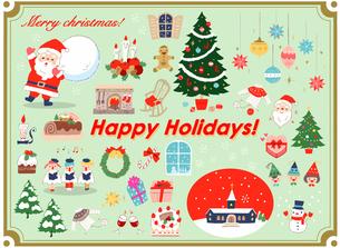 さまざまなクリスマスのイメージ セットのイラスト素材 [FYI04536718]