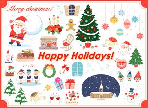 さまざまなクリスマスのイメージ セットのイラスト素材 [FYI04536721]