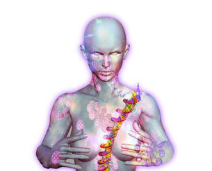 virusとDNAと体のイラスト素材 [FYI04536949]