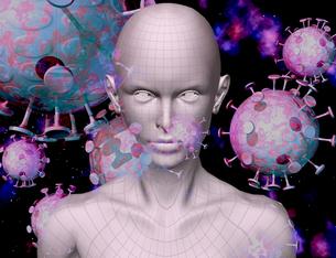 virusと体2のイラスト素材 [FYI04536960]