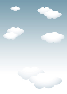 背景素材 テンプレート:雨が降りそうな曇り空 白い雲のイラスト素材 [FYI04537211]