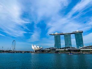 シンガポールのマリーナ・ベイ地区の写真素材 [FYI04537328]