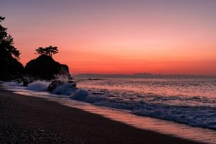 未明の裏桂浜の写真素材 [FYI04537628]