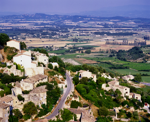 フランス プロバンス地方 ゴルドの村落の写真素材 [FYI04538051]