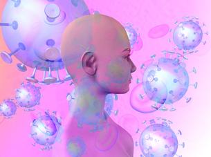 血液virus女性イメージ のイラスト素材 [FYI04538157]