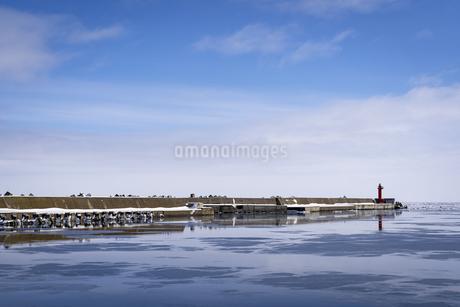 厳冬期の網走港の写真素材 [FYI04539216]