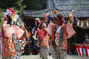 押立神社 ドケ祭りの写真素材 [FYI04539548]