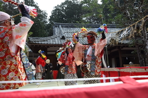 押立神社 ドケ祭りの写真素材 [FYI04539559]
