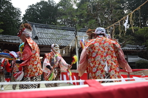押立神社 ドケ祭りの写真素材 [FYI04539569]