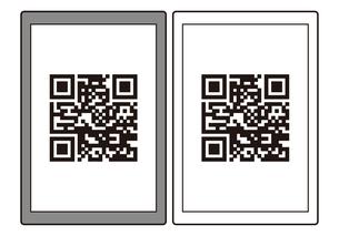 QRコード読み取り画面 イラスト ※読み取れないダミーのQRコードですのイラスト素材 [FYI04539809]