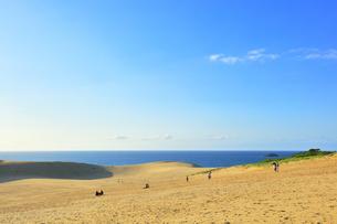 鳥取砂丘と日本海の写真素材 [FYI04539847]