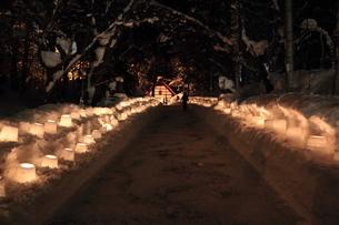 定山渓温泉の雪まつりの写真素材 [FYI04539961]