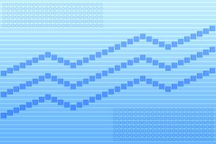 四角形が並ぶ折れ線グラフ CGのイラスト素材 [FYI04540051]