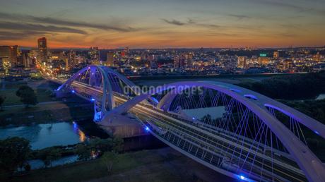 豊田大橋夜景の写真素材 [FYI04540711]